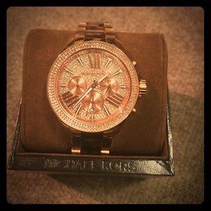 Michael kors rose gold/tortoise watch